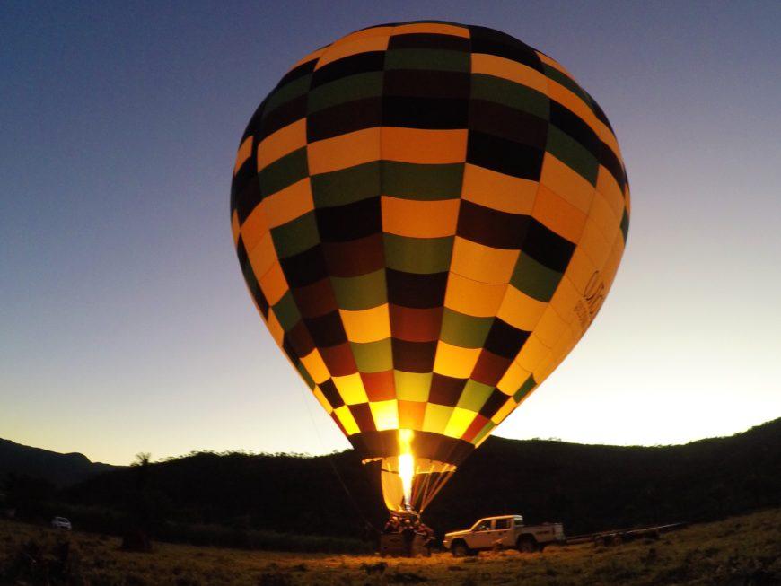 passeio de balão na Chapada dos Veadeiros