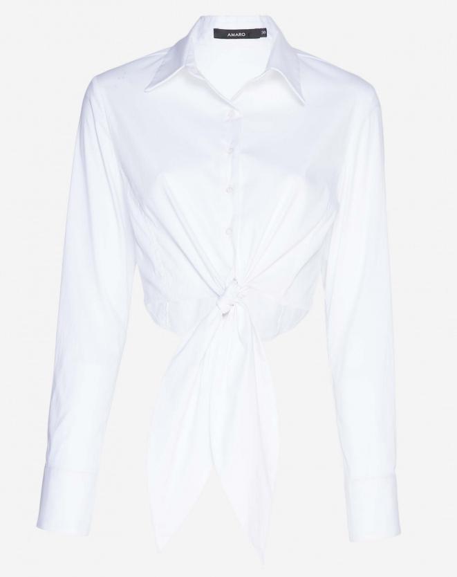 camisa branca amarração