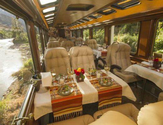 trem primeira classe Inca Rail