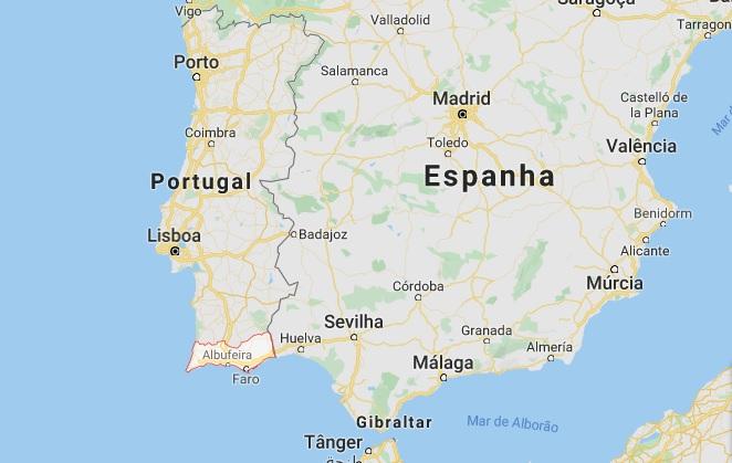 algarve portugal mapa