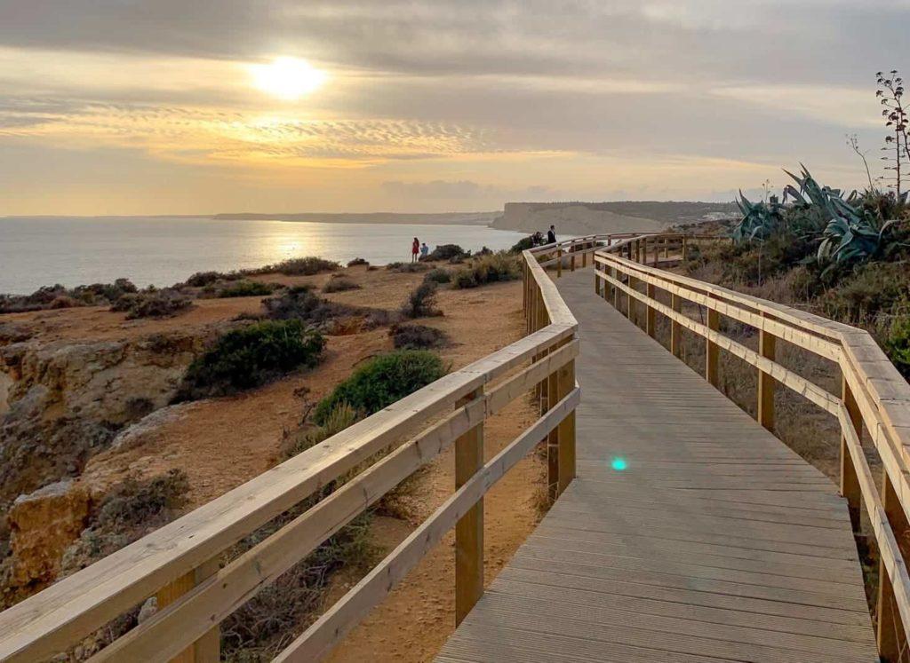 algarve portugal ponta da piedade pôr do sol
