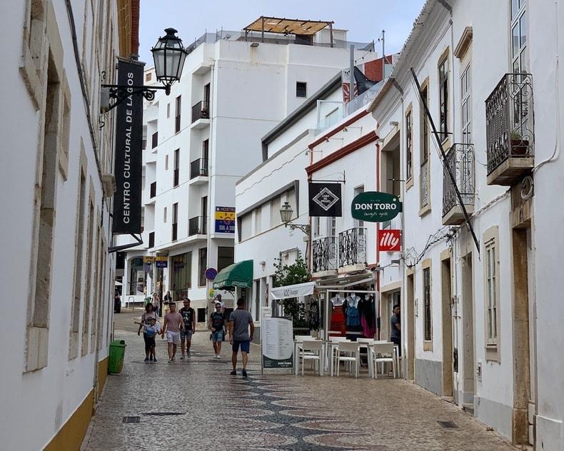 centro historico lagos algarve portugal